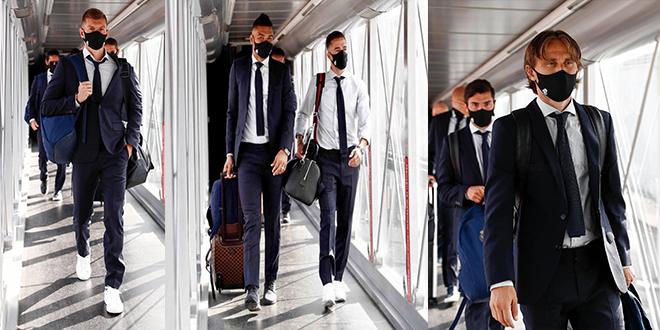 ابطال أوروبا : بعثة ريال مدريد تغادر إلى إنجلترا لمواجهة مان سيتي