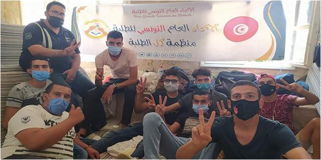 تطاوين : لليوم التاسع على التوالي.. اعتصام  عدد من الطلبة بسبب عدم تمكينهم من مبيت جامعي