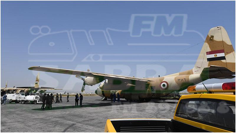 3 طائرات عسكرية مصرية محملة بمعدات طبية تصل تونس