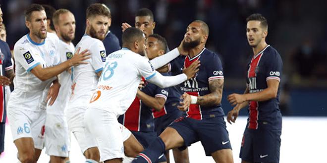 14 بطاقة صفراء و 5 بطاقات حمراء: حصيلة مباراة باريس سان جيرمان وأولمبيك مارسيليا